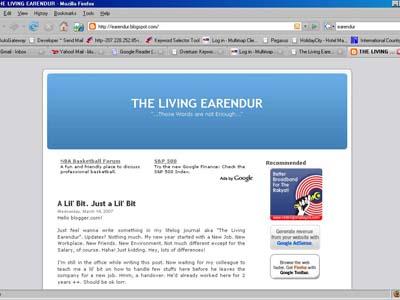 My Old Blog Screenshot