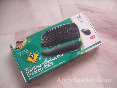 Logitech Cordless Keyboard and Mouse Box