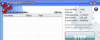 Portable Antivirus Screenshot