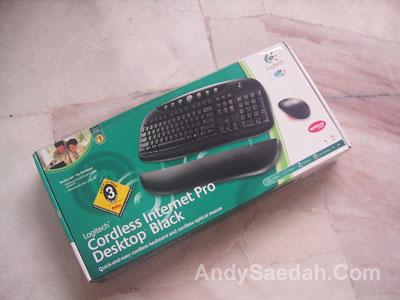 Logitech Cordless Keyboard and Mouse Box